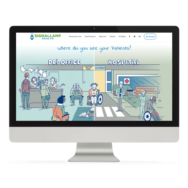Signallamp Health Website & Viewfinder